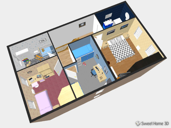 Thumbnail for the post titled: Sweet Home 3D – nyílt forráskódú 3D-s lakástervező